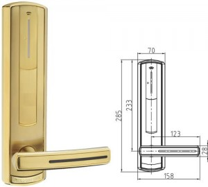 locksmiths leeds door handle with measurements