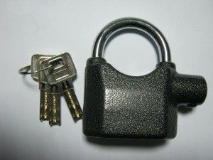 alarmed padlock for garden