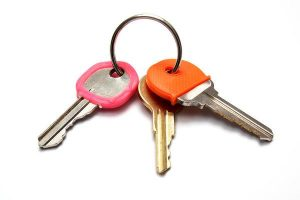 keys on key ring with locksmith Leeds